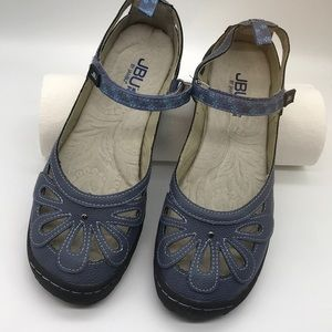JBU Jambu Never Worn 8M Denim Mary Jane Flats